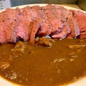 川崎🍛ビーフバンク「牛カレービーフバンク丼=低温調理肉のカレーソース」