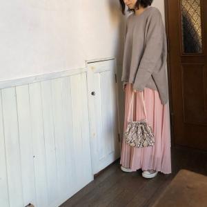 お気に入りのパステルカラーのスカート