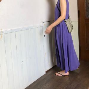 着てみると、すっごくかわいかった、紫のワンピース