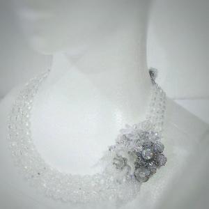 Happy Bazaar in アトレ大森 出展作品のご紹介 その3 タペストリーワークのブローチ&3連ネックレス