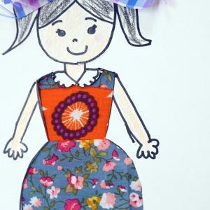 第9回 あそび勉強会報告「厚紙に穴を切って作る風景のドレス」