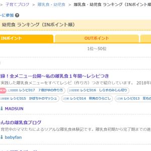 祝!ブログ村☆離乳食・幼児食ランキング1位!!