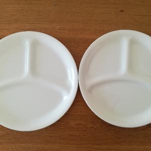 夕食はプレート1枚で。薄くて軽い、子どもでも持ちやすいお皿