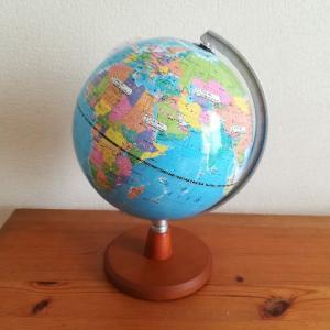 7才の誕生日プレゼントは、コンパクトな地球儀にしました。
