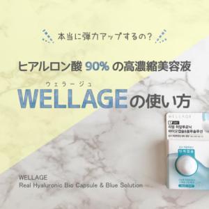 ヒアルロン酸90%の高濃縮美容液 WELLAGEの使い方 気になる口コミは?