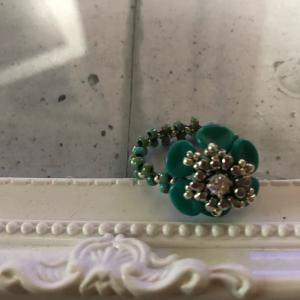素敵なターコイズブルーのお花の指輪作成しませんか?