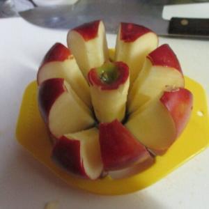 リンゴカッターで