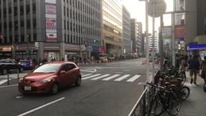 環状2号線 横浜市港北区大豆戸町付近で道路が陥没。