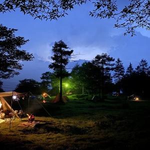 霧が多い霧ヶ峰で初めてのお座敷ソロキャンプ!霧ヶ峰キャンプ場(長野県)【後編】
