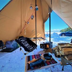 氷点下5℃の絶景と雪上キャンプ!浜黒崎キャンプ場!(富山県)