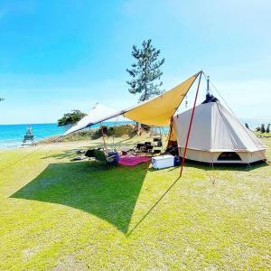 珠洲の海で貸し切りファミリーキャンプ最高!CAMPING SPOT HAMANO!(石川県)