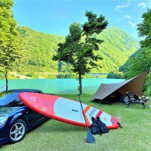 富山県でSUP遊びなら桂湖でしょ!桂湖オートキャンプ場!(富山県)