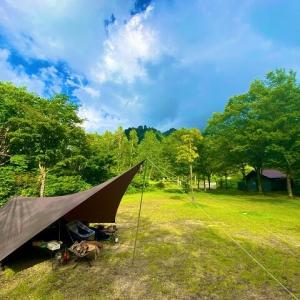 雨でもソロキャンプは快適!?馬場島キャンプ場!(富山県)