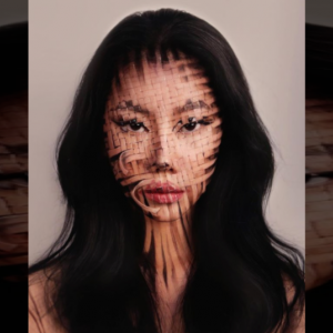 【衝撃】自分の顔をトリックアートにしてしまうスゴ技韓国人デザイナー
