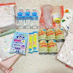 【赤ちゃん用の避難バッグの中身】赤ちゃん用に運べる量で避難バッグを詰めてみた