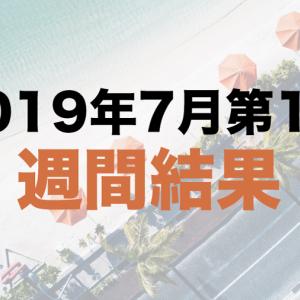 社畜の運用日記:2019年7月第1週の運用結果