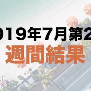 社畜の運用日記:2019年7月第2週の運用結果