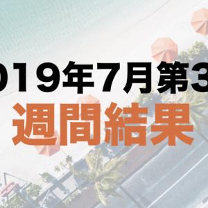 社畜の運用日記:2019年7月第3週の運用結果