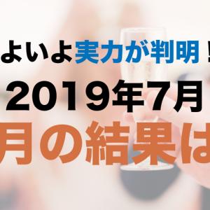 3ヶ月の節目、2019年7月の運用結果