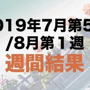 社畜の運用日記:2019年7月第5週/8月第1週の運用結果