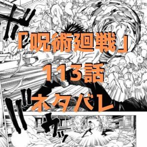 呪術廻戦(じゅじゅつかいせん)113話ネタバレ|恵VS甚爾!伏黒親子対決!!【渋谷事変㉛】