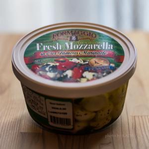 コストコで買える FORMAGGIO「モッツァレラチーズ ガーリックバジルマリネ」