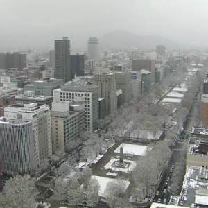11月の嵐を境に冬仕様になる札幌