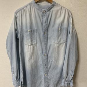 【思い出の服】bukht 15ss バンドカラーデニムシャツの経年変化