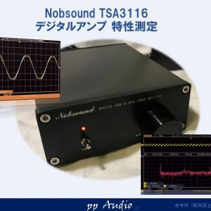 Nobsound TPA3116 デジタルアンプ 素性測定