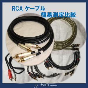 RCAケーブルを簡易測定で比較