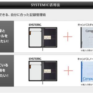 コクヨのノートカバー「システミック」の表紙ポケットにiPad miniを入れて持ち歩く