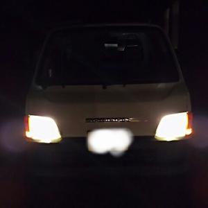 サンバートラック 15インチホイール装着&LED化