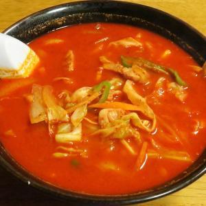 めん処いなば 真っ赤なスープが迫力満点「激辛みそラーメン」