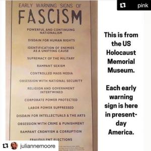 ファシズムの初期警告の兆候