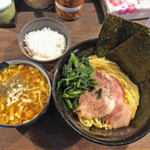 カレー+家系=旨い!:「クックら」の「豚骨カレーつけ麺(チーズ入り) 」