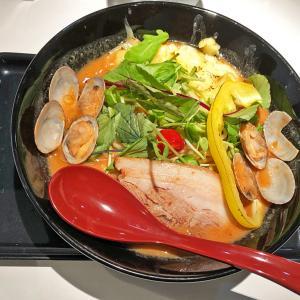 野菜の旨味たっぷり「赤のクラムチャウダー風ベジ3SOラーメン」