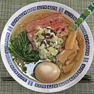 外出自粛で持ち帰りラーメン:天国屋の鶏系ラーメン「白醤油」