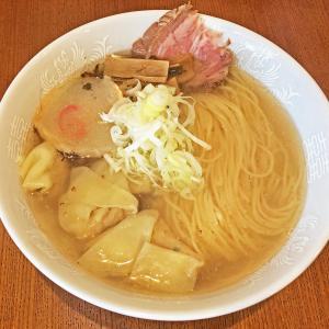 2度目の挑戦で初喫食!:六花(ロッカ)の函館ラーメン「ワンタン麺 塩」