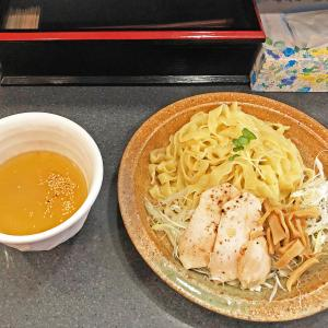 超幅広麺が絶品「冷しシークワァーサーつけ麺」:石山商店