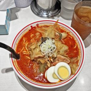4ヶ月ぶりの店内飲食:蒙古タンメン中本の「北極やさい」