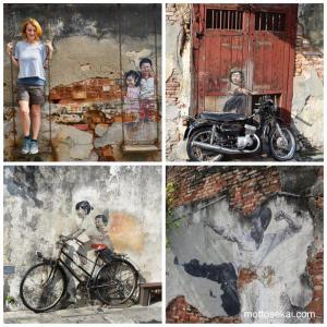 ペナン島 ストリートアート・壁画アートマップ