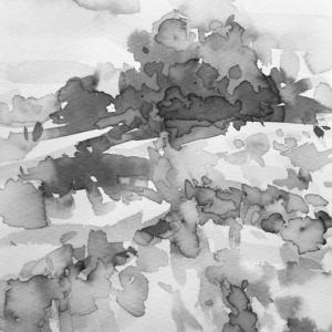 インクで水彩画