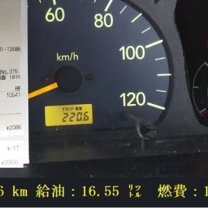 2927給油●えぶ号燃費 13.3km/㍑●@125