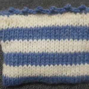 棒針編みポーチと徒然