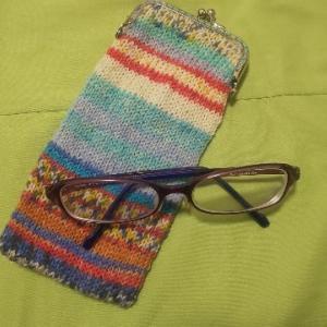 オパール毛糸のメガネケース