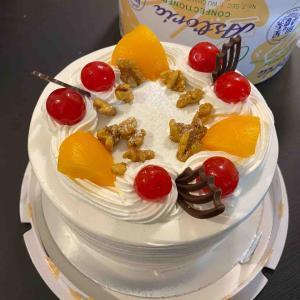 今年の誕生日ケーキ