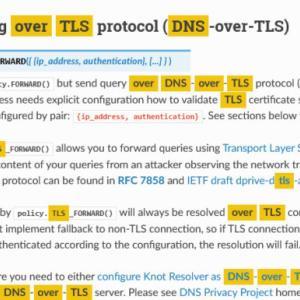 Knot resolverでDNS over TLSなフォワーダーを設定する