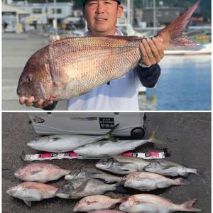 竿舞会No.96《三木浦でハチマル真鯛》筏、カセの短竿大型五目釣り(9月後半戦、4連休までの報告)