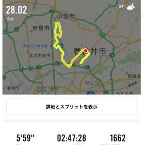 9/16(月)30キロLSD