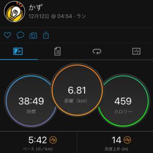 12/12(木)インターバル走 1000×3本